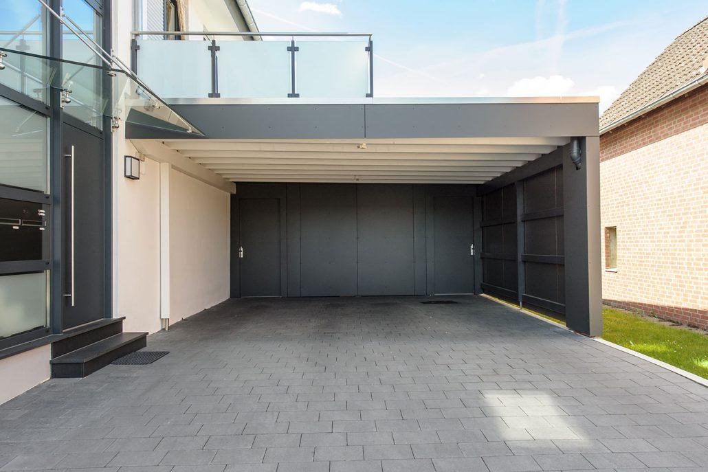 Carport b bauart thiele for Balkon carport