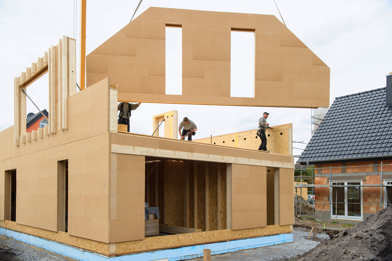 Aufbau Holzrahmenhaus