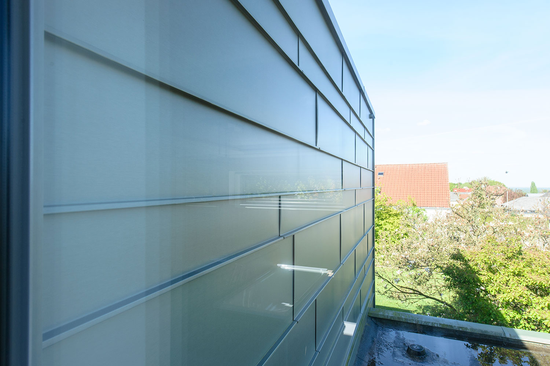 Detailansicht Zinkfassade